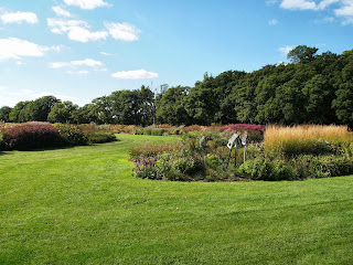 Sussex Prairies Garden. Amazing flowers and good example of garden design. Grasses and perennials create a sea of colour in the landscape
