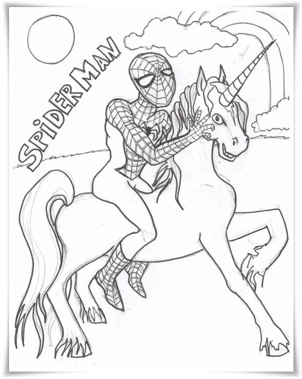 Superhelden Ausmalbilder Zum Ausdrucken Kostenlos: Spiderman Ausmalbilder
