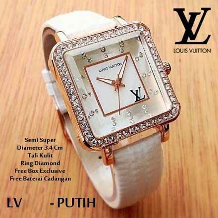 Louis Vuitton Persegi putih