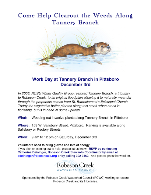 Tannery Branch Clean – Up : December 3, 2011