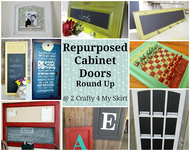 2 Crafty 4 My Skirt Round Up Repurposed Old Cabinet Doors