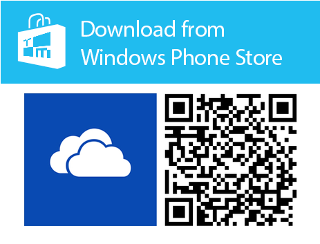 onedrive qr windows phone