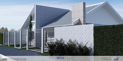 3dsul maquete eletr nica 3d for Casa moderna 44 belvedere