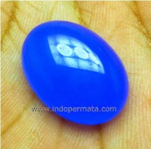 Jenis Batu Permata : Batu Permata Blue Chalcedony