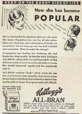 vintage 30s ad about eating all bran