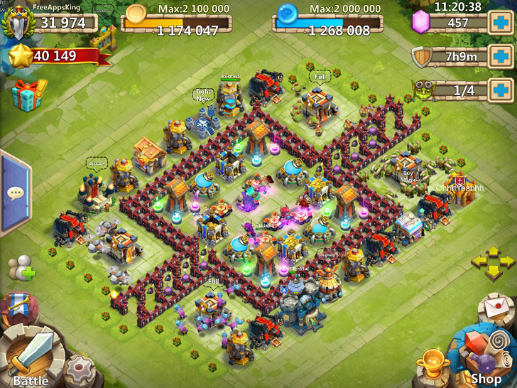 Castle Clash FreeAppsKing Village Game By IGG