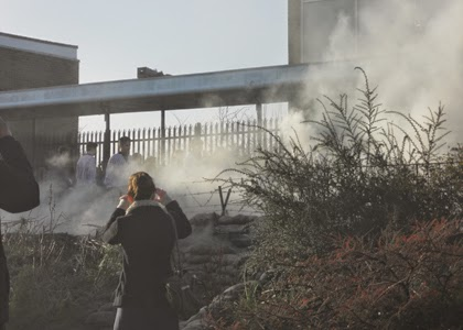 Smoke on 'No-man's Land', Seaham College of Technology