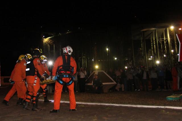 Acidente no Estádio Nacional de Brasília Mané Garrincha, quinta vítima é resgatada