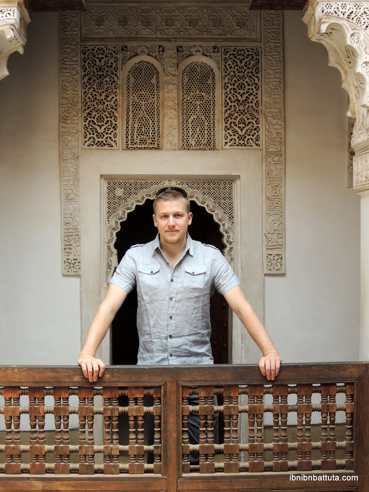 Andrew Farrand at Medersa Ben Youssef (Marrakech)