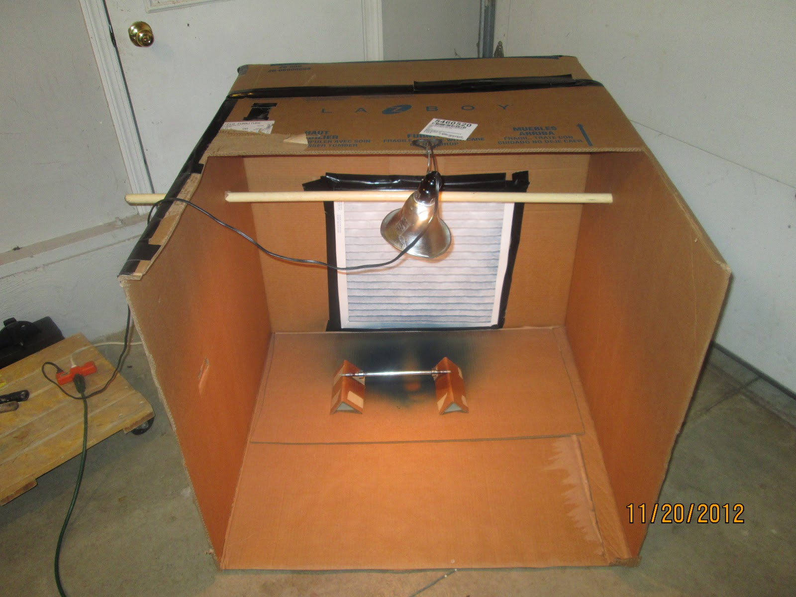 Homemade Paint Booth