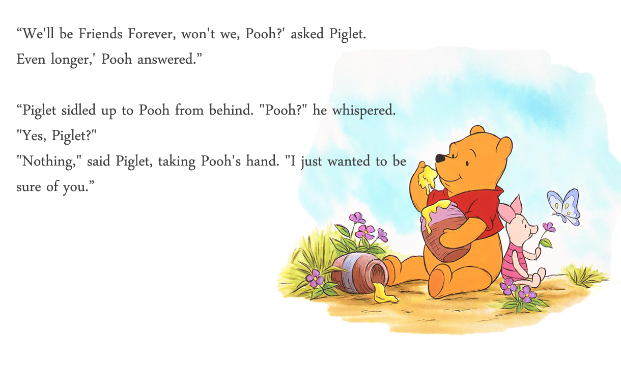 Quotes From Winnie The Pooh About Friendship Glamorous Winnie The Pooh Sayings About Friendship Piglet Quotes On