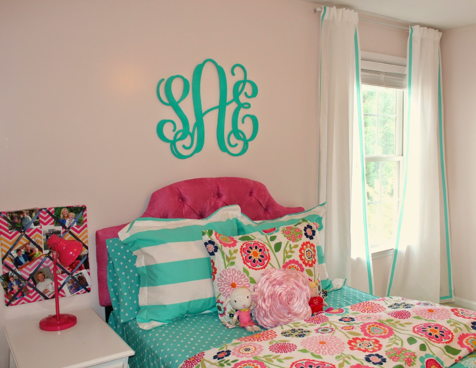 Carolina On My Mind Big Girl Bedroom Ribbon Curtain Panels PBteen Knock Off