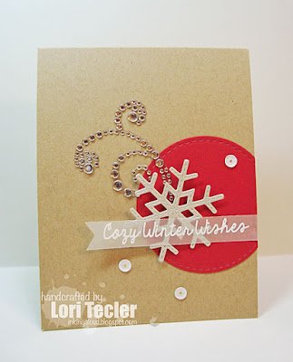 Cozy Winter Wishes card-designed by Lori Tecler/Inking Aloud-stamps and dies from Lil' Inker Designs