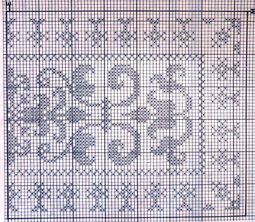 Вязание филейное дорожка 510