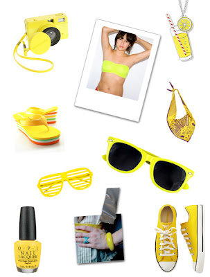 yellow sun fashion beach shopping
