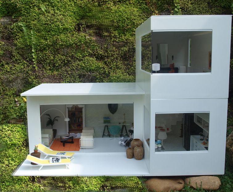 Miniaturas modernas septiembre 2012 for Casa minimalista maqueta