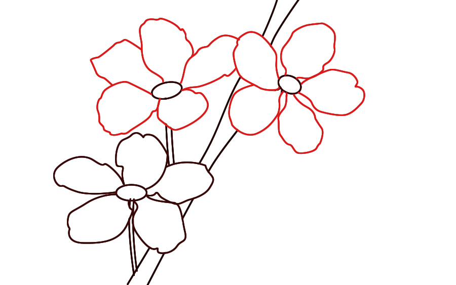 How to draw cherry blossoms draw central for How to draw a cherry blossom step by step