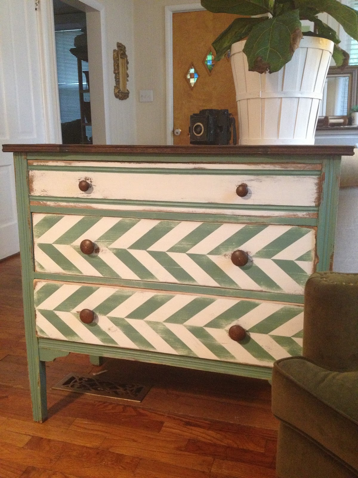 chevron painted furniture. Chevron Painted Furniture A