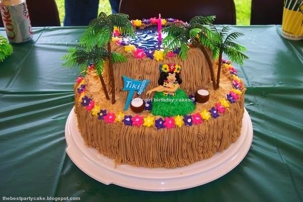 luau girl birthday cakes