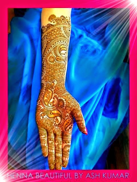 Celebrity Latest Arabic Mehndi Designs
