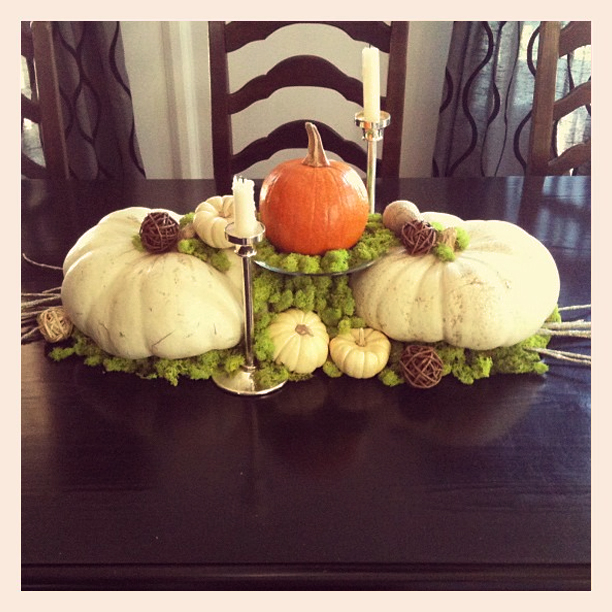 pumpkin patch fall centerpiece