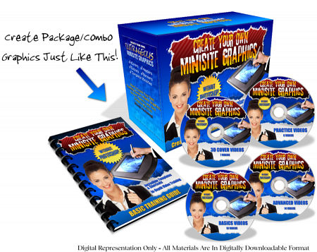 Create Your Own 3D Covers, Header Graphics & Minisite Graphics