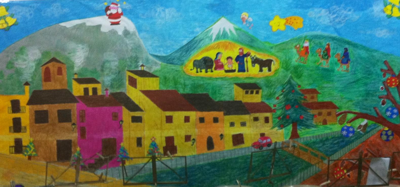 K nerpio mural navide o for Mural navideno