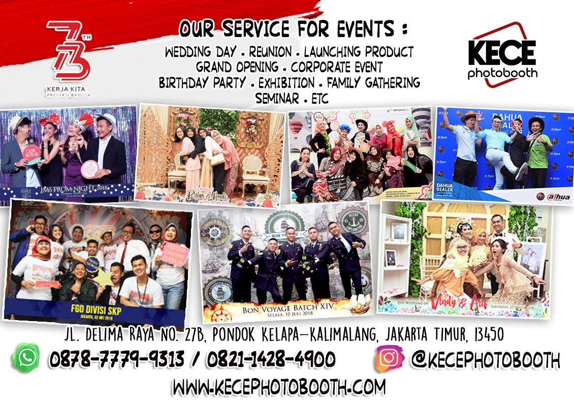 KECE Photobooth - Sewa Photo Booth Jakarta Utara, Bekasi, Depok, dan Dekorasi Photobooth