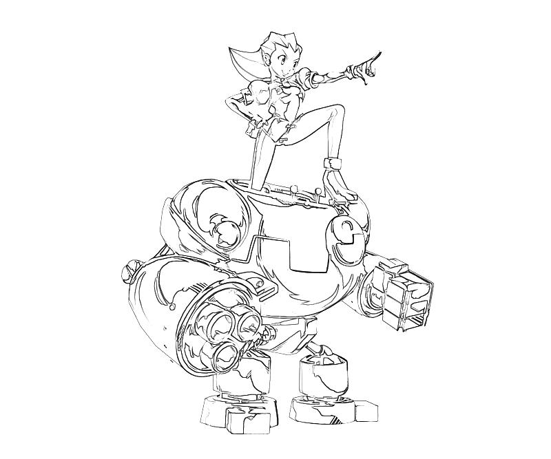 Printable Tron Bonne Skill Coloring Pages