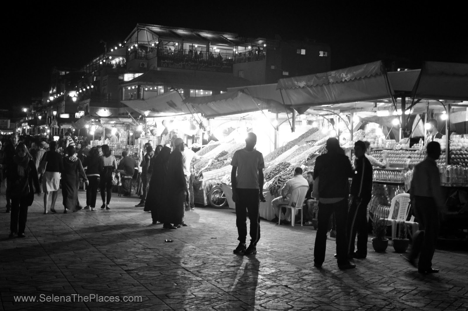 Jamaa el Fna  - The Square of Morocco by Night