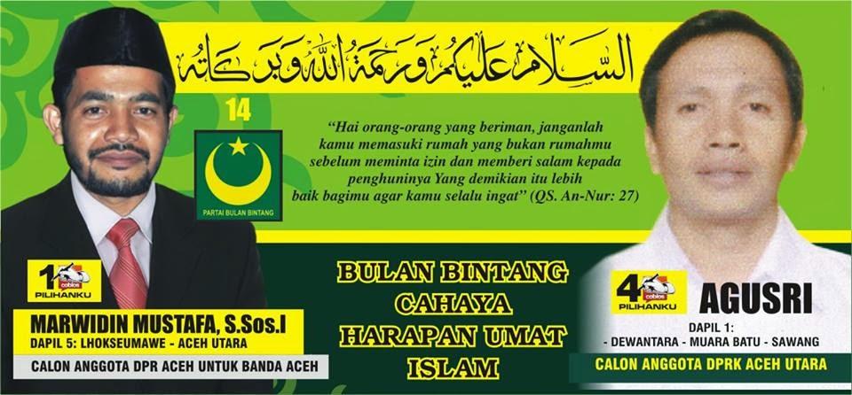 Calon Anggota DPR Kabupaten Aceh Utara Nomor Urut 4. Pemilu Legislatif 2014 DaPil-1 ; Dewantara, Muara Batu, Sawang