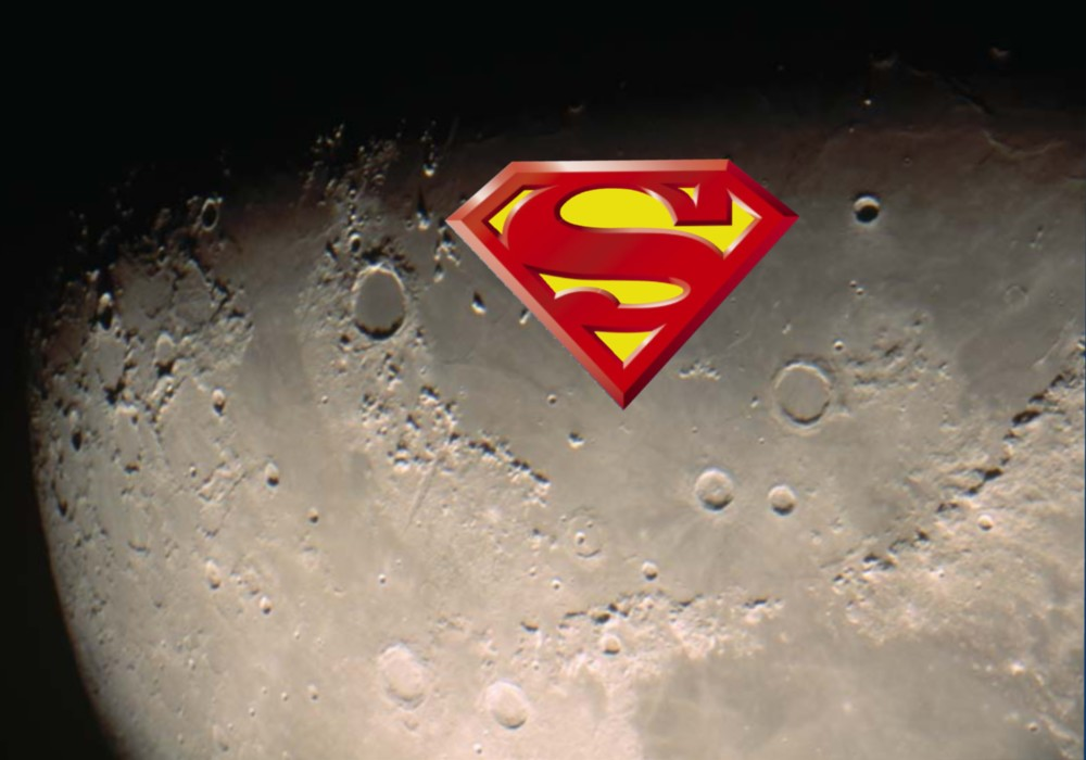 Superman free wallpapers posters Superman Logo Classic Radiance Moon ...