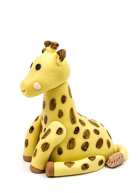 Giraffe Sophie fondant figurine side shot