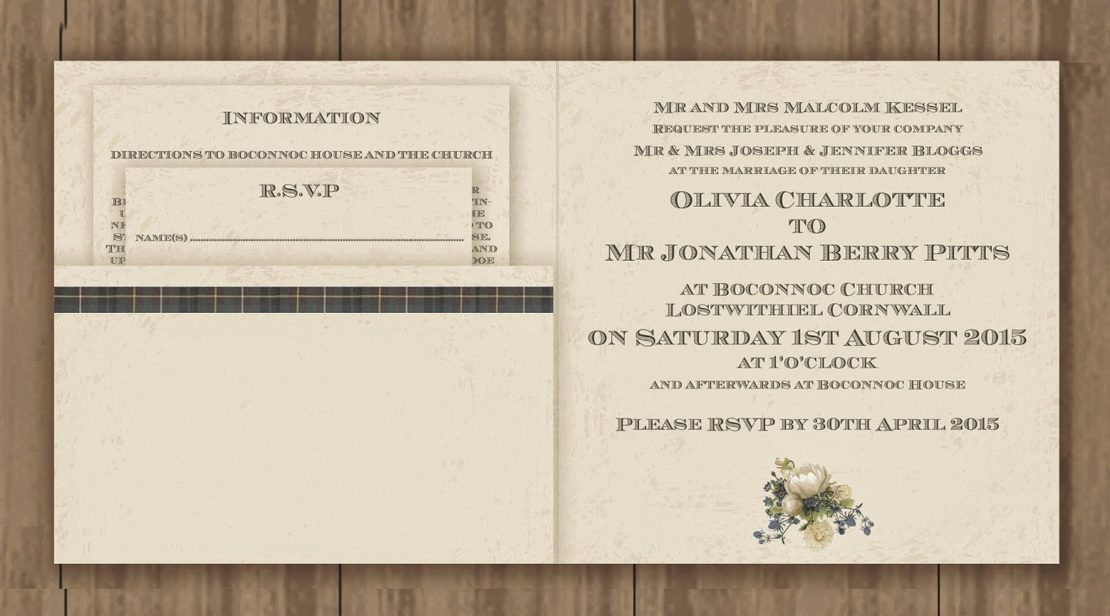 Knots And Kisses Wedding Stationery: Bespoke Cornish Sketch ...