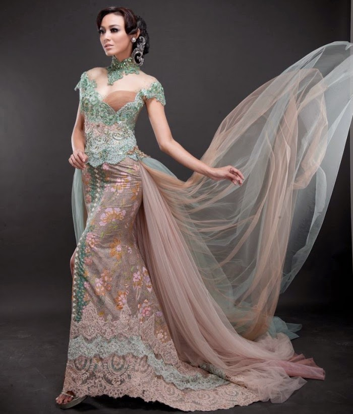 Model Kebaya Modern Soft Green