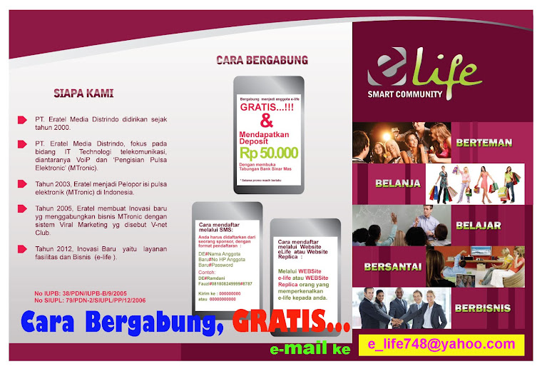 e-Life smart community Brosur