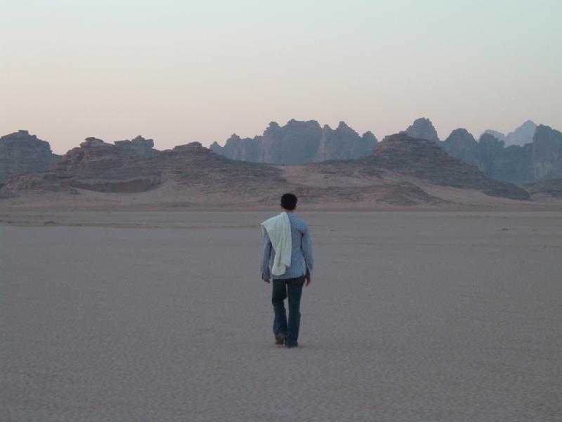 Man Wandering in Desert