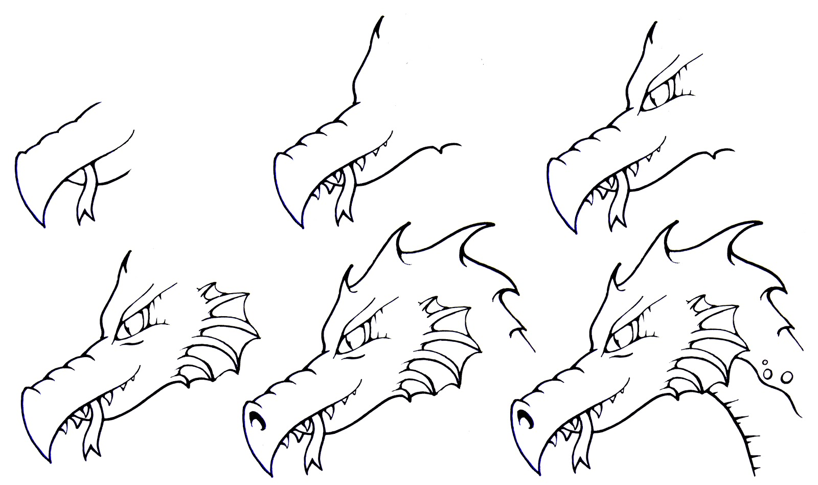 DARYL HOBSON ARTWORK: How To Draw A Dragon: Step By Step