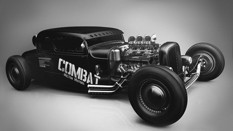l 39 atelier de christian maquette du coup hot rod combat supercharged. Black Bedroom Furniture Sets. Home Design Ideas