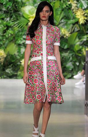 Patricia Viera coleção Primavera Verão 2016 vestido de couro estampado