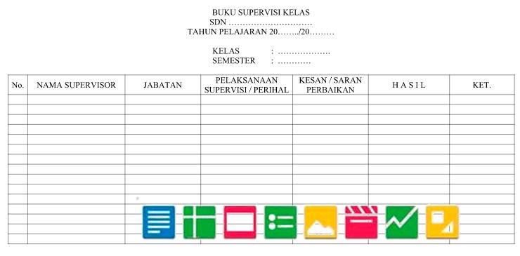 Download Format Buku Supervisi Kelas Berkas Sekolah Berkas Sekolah