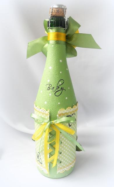 Украшаем шампанское на подарок 52