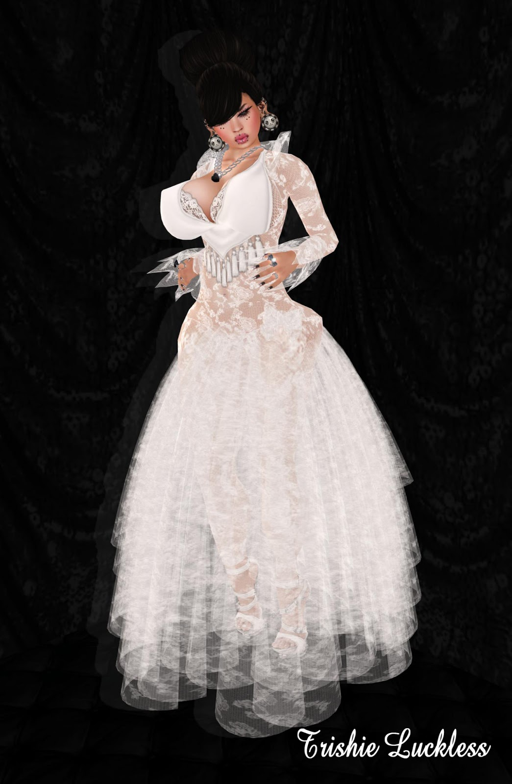 Ballroom Wedding Gowns With Tulle Romantic Medieval Dresses