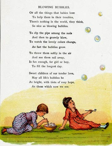 Blowing Bubbles poem