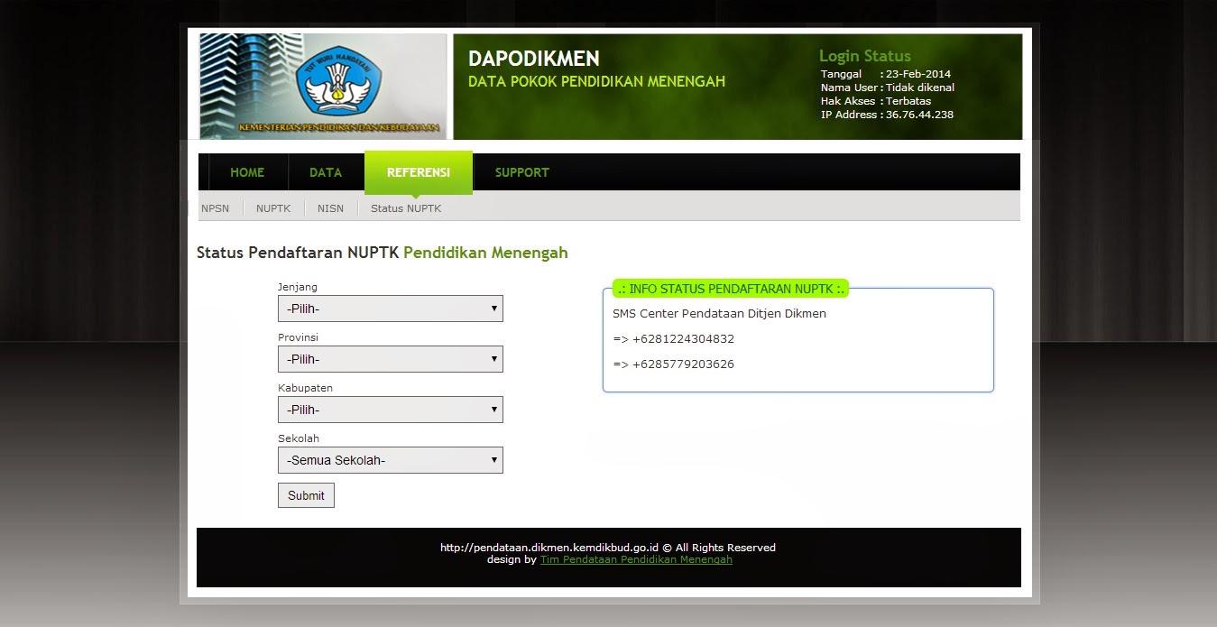 Cara Cek Status Nuptk Di Dapodikmen Pustaka Pandani 1 Info Pendaftaran