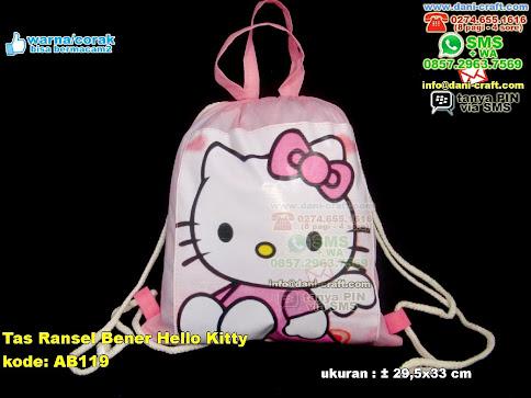 Tas Ransel Bener Hello Kitty