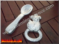 foundry sand casting chicken and spoon replica