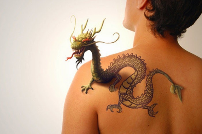 Four 3D Tattoos Ideas...