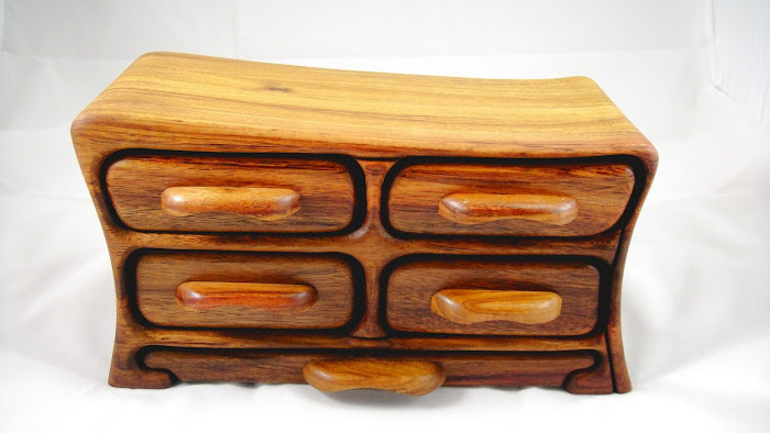 Canary Wood Jewelry Box