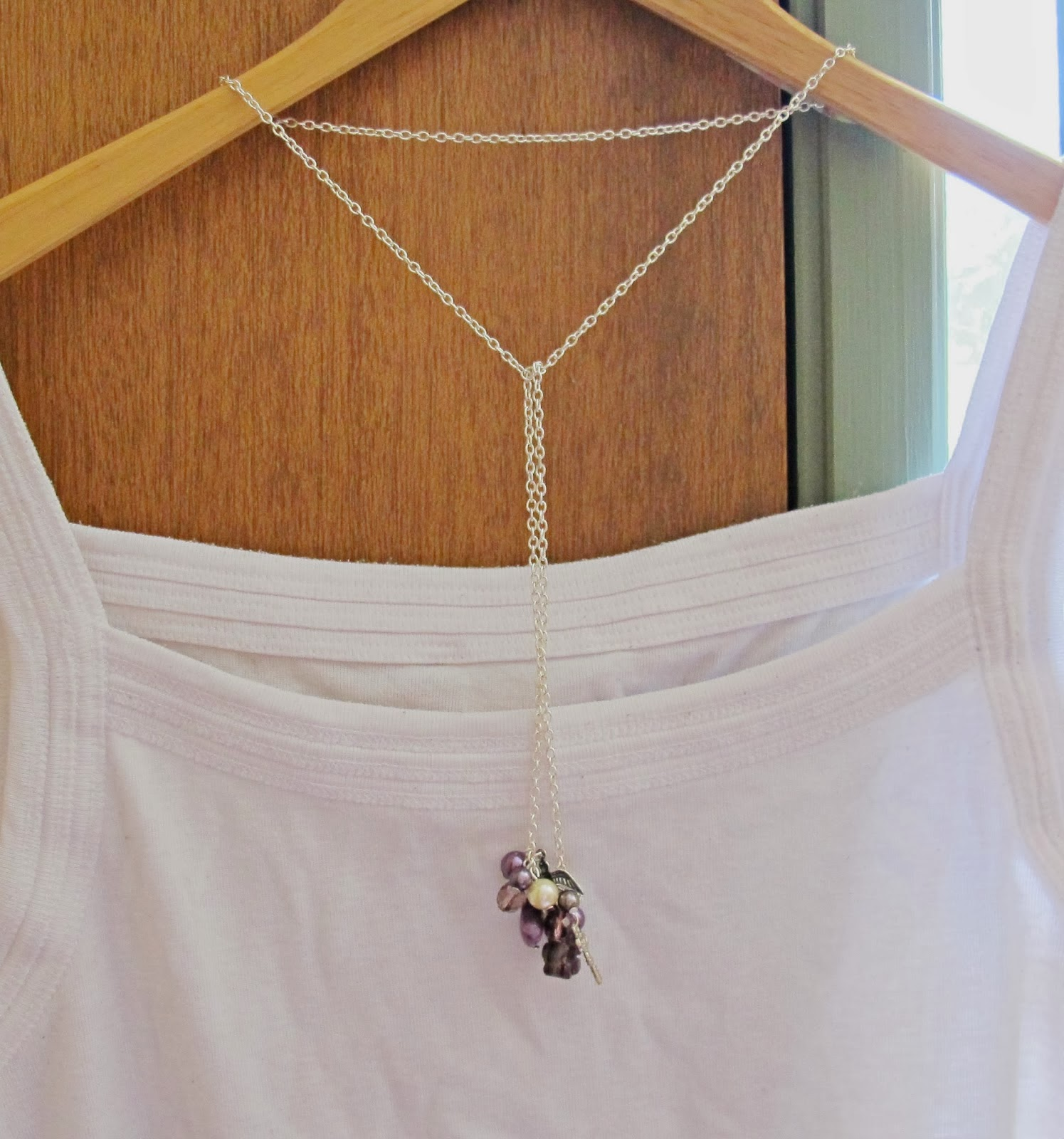 image tutorial diy dangly clusters lariat necklace